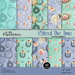 Papericious Premium Collection - Steal the TIme (6 by 6 patterned paper)