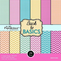 Papericious  Designer Collection - Back to Basics (12 by 12 patterned paper)