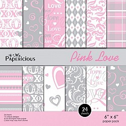 Papericious - Pink Love (6 by 6 paper)