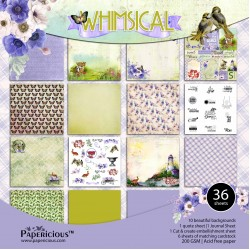 Papericious  Permium Collection - Whimsical (6 by 6 patterned paper)