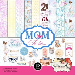 Papericious  Designer Collection - Mom to Be (6 by 6 patterned paper)