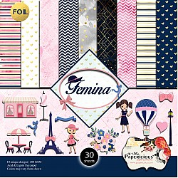 Papericious  Foil Collection - Femina (12 by 12 patterned paper)