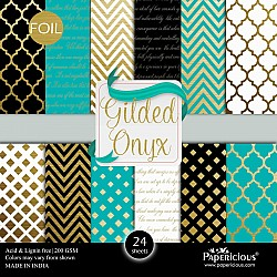 Papericious Foil paper pack - Gilded Onyx (12 by 12 paper)