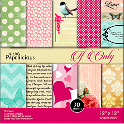 Papericious  Designer Collection - If Only (12 by 12 patterned paper)