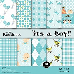 Papericious - Its a Boy (12 by 12 paper)
