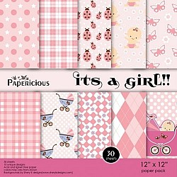 Papericious - Its a Girl (12 by 12 paper)