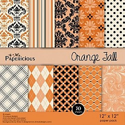 Papericious - Orange Fall (12 by 12 paper)
