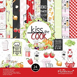 Papericious - Kiss the Cook (6 by 6 paper)