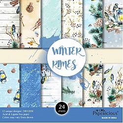 Papericious  Designer Collection - Winter Rymes (6 by 6 patterned paper)
