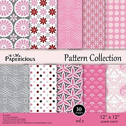 Papericious - Pattern Collection - Vol 2 (12 by 12 paper)