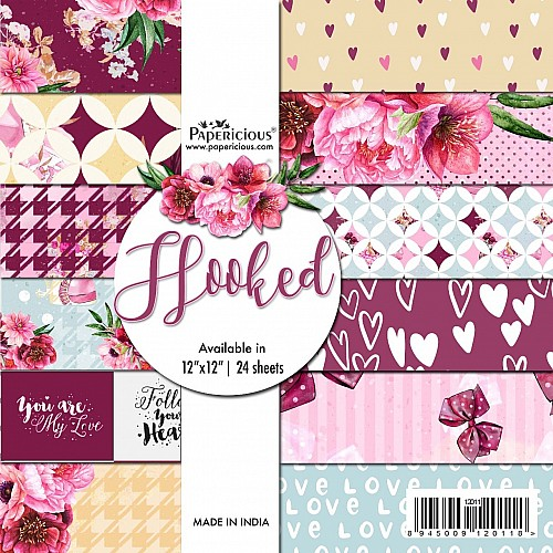 Papericious  Designer Collection - Hooked (12 by 12 patterned paper)