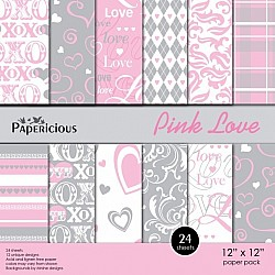 Papericious - Pink Love (12 by 12 paper)