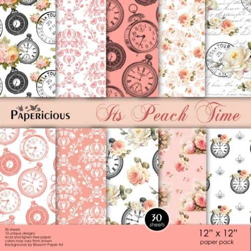 Papericious (Premium Collection) - Its Peach Time (12 by 12 paper)
