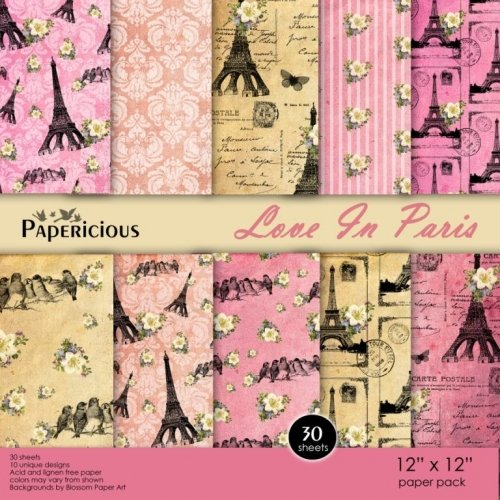 Papericious (Premium Collection) - Love in Paris (12 by 12 paper)