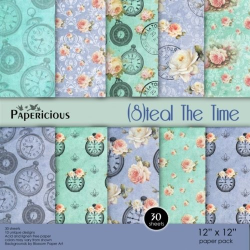 Papericious (Premium Collection) - Steal the TIme (12 by 12 paper)