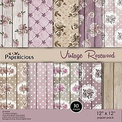 Papericious (Premium Collection) - Vintage Rosewood (12 by 12 paper)