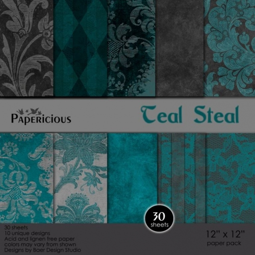 Papericious - Teal Steal (12 by 12 paper)