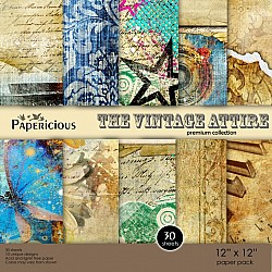 Papericious Premium Collection - The Vintage Attire (12 by 12 patterned paper)
