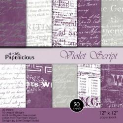 Papericious - Violet Script (12 by 12 paper)