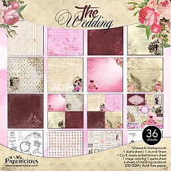 Papericious Premium Collection - The Wedding (12 by 12 patterned paper)