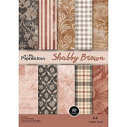 Papericious - Shabby Brown (A4 Patterned Paper)
