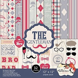 Papericious  Designer Collection - The Gentleman (12 by 12 patterned paper)