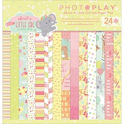 Photo Play paper pad - About a Little Girl (6by6 inch)