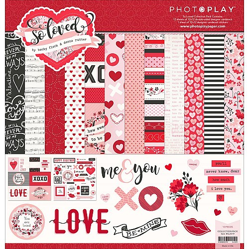 Photo Play Collection Pack - So Loved (12by12 inch)