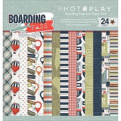 Photo Play paper pad - Boarding Pass (6by6 inch)