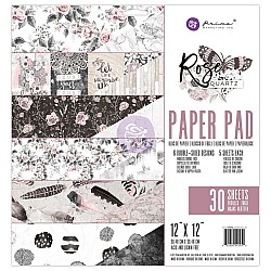 Prima - Rose Quartz - 12x12 Paperpack  (30 double sided sheets)