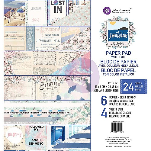Prima - Santorini - 12x12 Paperpack  (24 double sided sheets)