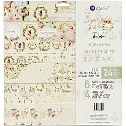 """Prima Marketing Double-Sided Paper Pad 12""""X12"""" 24/Pkg - Sugar Cookie"""