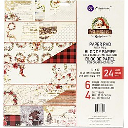 Prima - Christmas in the Country - 12x12 Paperpack  (24 double sided sheets)