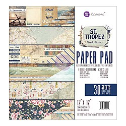 Prima - St Tropez - 12x12 Paperpack  (30 double sided sheets)
