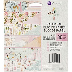 """Prima Marketing Double-Sided Paper Pad 6""""X6"""" 30/Pkg - Surfboard"""