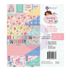 Prima 6 by 6 Paper - Travelling Girl (30 Sheets)