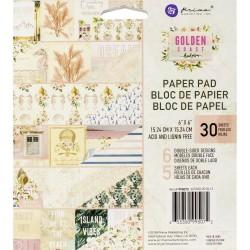 "Prima Marketing Double-Sided Paper Pad 6""X6"" 30/Pkg - Golden Coast"