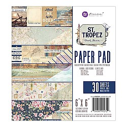 Prima - St Tropez - 6x6 Paperpack  (30 double sided sheets)
