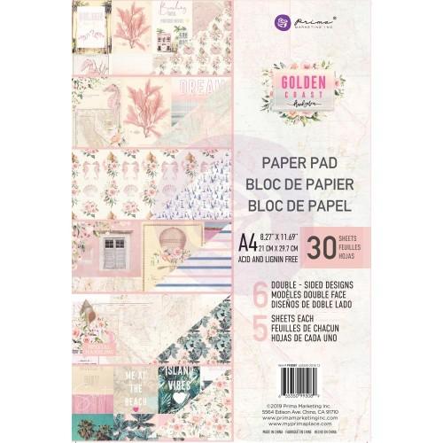 Prima Marketing Double-Sided Paper Pad A4 30/Pkg - Golden Coast, 6 Designs/5 Each