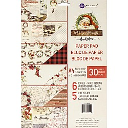 Prima Marketing Double-Sided A4 Paper Pad - Christmas In The Country (24 sheets)