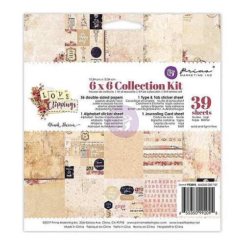 Prima - Frank Garcia Love Clippings (6x6 Collection Kit)