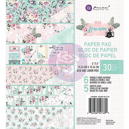 Prima - Havana - 6x6 Paperpack  (30 double sided sheets)