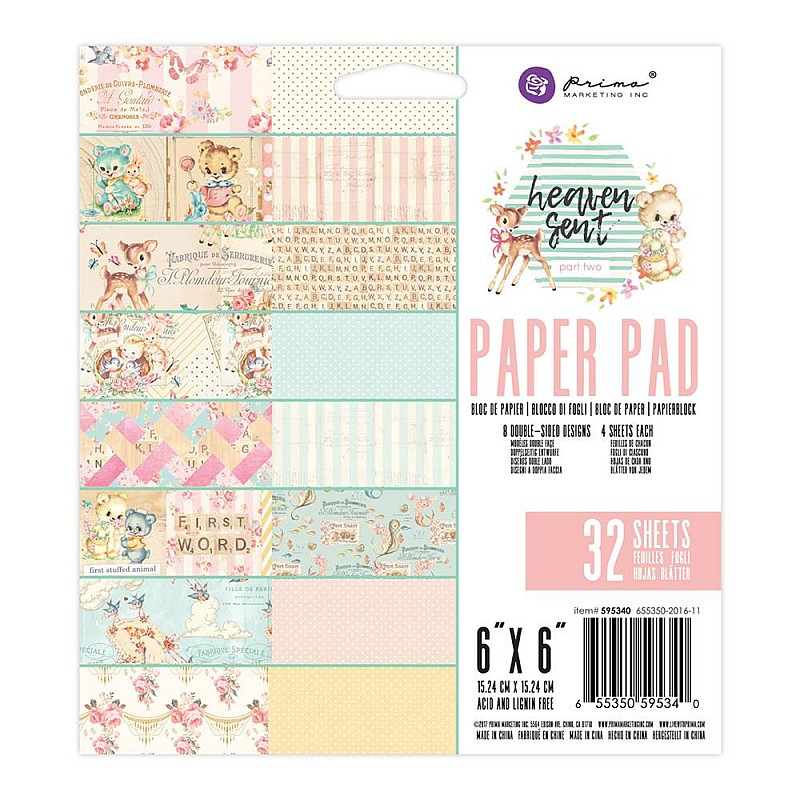 Prima - Heaven Sent - 6x6 Paperpack (32 double sided sheets)
