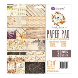 Prima - Amber Moon - 8by8 Paperpack  (30 double sided sheets)