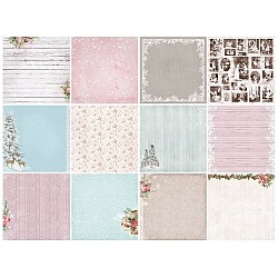 ScrapBerrys 12x12 Patterned Paper Pack - Winter Joy(Set of 13 sheets)