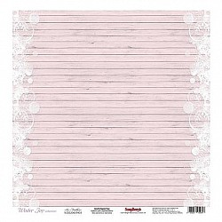 ScrapBerrys 12x12 Patterned Paper - Winter Joy - Ice Feathers (Set of 10 sheets)