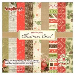 ScrapBerrys 6x6 Scrapbok Paper Pack - Christmas Carol (Set of 24 sheets)