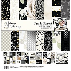 "Simple Stories Collection Kit 12""X12"" - Always and Forever"