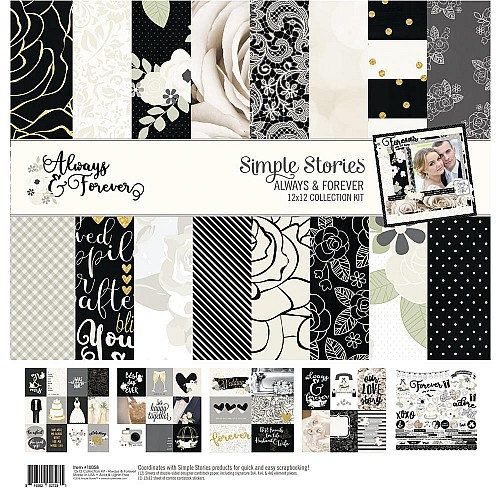 """Simple Stories Collection Kit 12""""X12"""" - Always and Forever"""