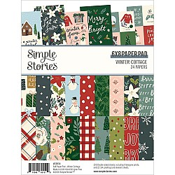 """Simple Stories Double-Sided Paper Pad - Winter Cottage (6""""X8"""" 24/Pkg)"""